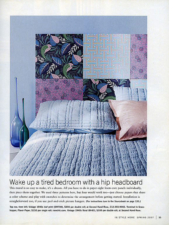 In Style Home Spring 2007 Off the Wall Pg 55